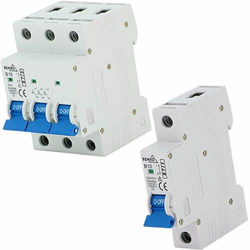 BEMKO Leitungsschutzschalter Sicherungsautomat LS-Schalter 2A B 1-polig 4A 63A B,C 1-polig 3-polig